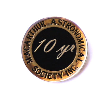 Ten yYears Continuous Membership