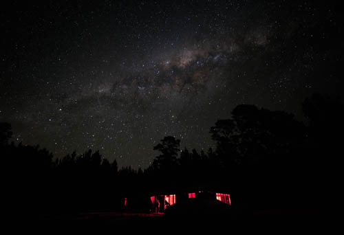 The Forest Cabin Under the Stars, copyright Tony Law